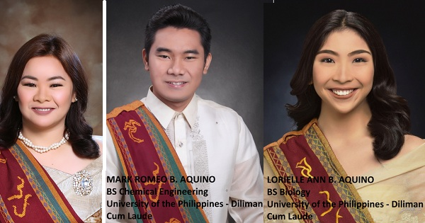 Mom graduates from UP with 2 cum laude kids