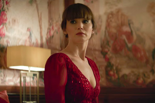 "Jennifer Lawrence as a Russian spy in ""Red Sparrow"""