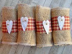 DIY Κρίκοι για πετσέτες από Λινάτσα