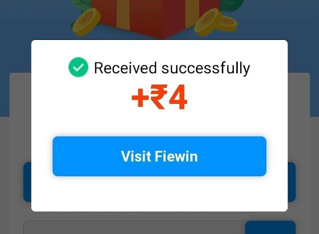 Fiewin Website Loot : Earn Daily Free Money