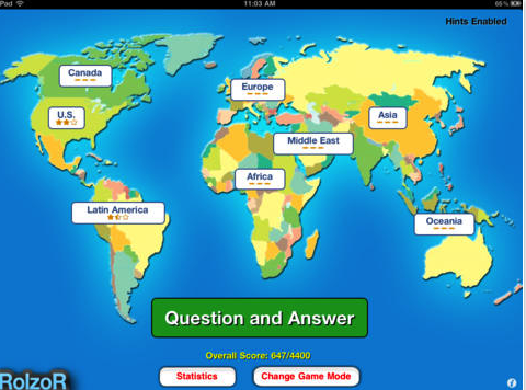 4 handy atlas apps to help students learn about the world play tapquiz maps for an easy and quick way to master geography learn the countries of the world through a fun and engaging game gumiabroncs Image collections