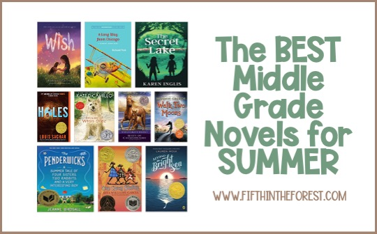 Title Image for the Best Middle Grade Novels to Read in the Summer