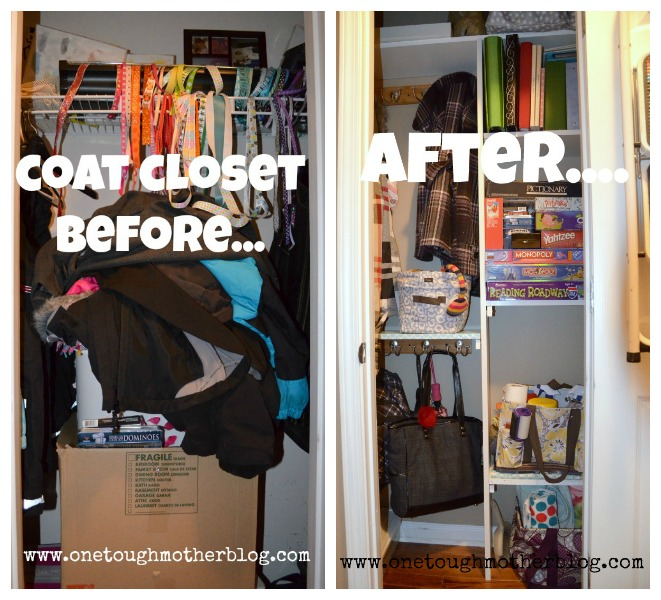 My Husband And I Have Been Working Hard On Our Coat Closet Makeover It S Finally Done Woo Hoo