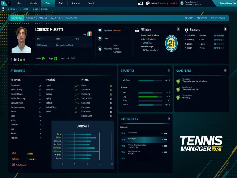 Download Tennis Manager 2021 Game Setup Exe