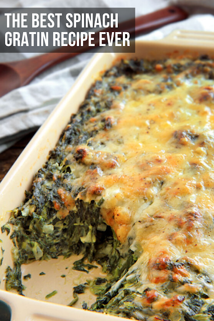 The Best Spinach Gratin Recipe Ever