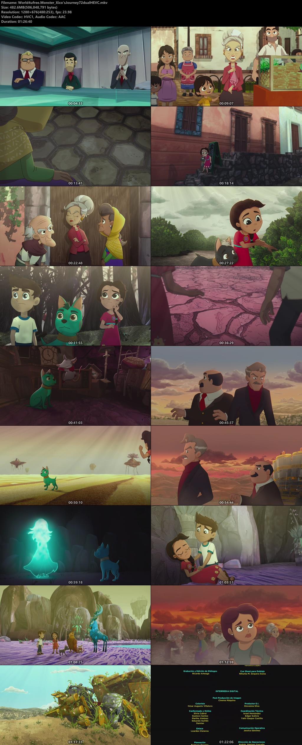 Xico's Journey (2020) Dual Audio [Hindi – Eng] 720p WEB HDRip ESub 480Mb  x265 HEVC