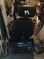Min gamle el-rullestol.