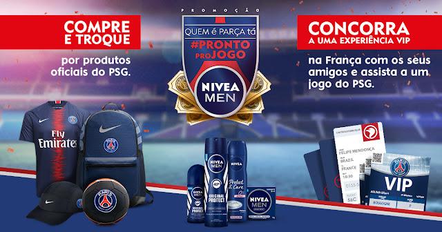 "Promoção Nivea: ""Pronto pro jogo"" Blog Top da Promoção www.topdapromocao.com.br #topdapromocao @topdapromocao youtube facebook instagram twitter pinterest neymar jr psg"