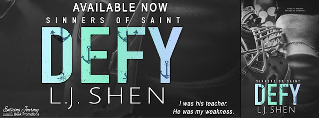 Defy by L.J. Shen Release Reviews + Giveaway