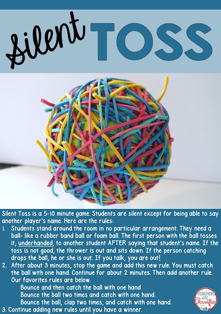 Silent Toss: a kid favorite for those few minutes when you just need a break or have minutes to burn! It's easy and fun and QUIET!