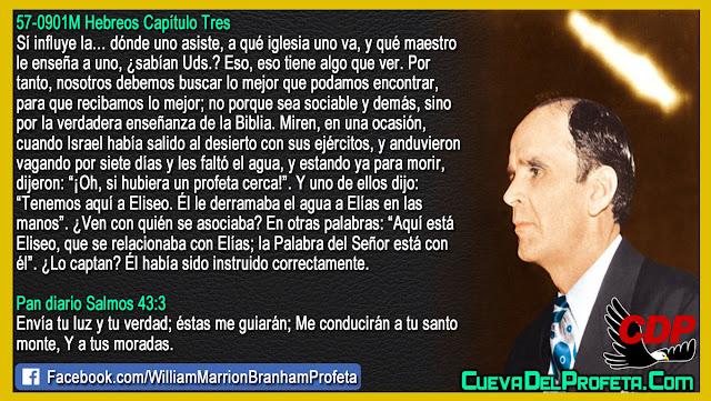 A qué iglesia va y qué maestro le enseña - William Branham en Español