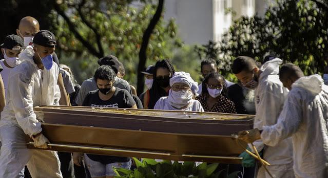 Brasil registra 3.251 mortes por Covid-19 em 24 horas, maior número desde o início da pandemia