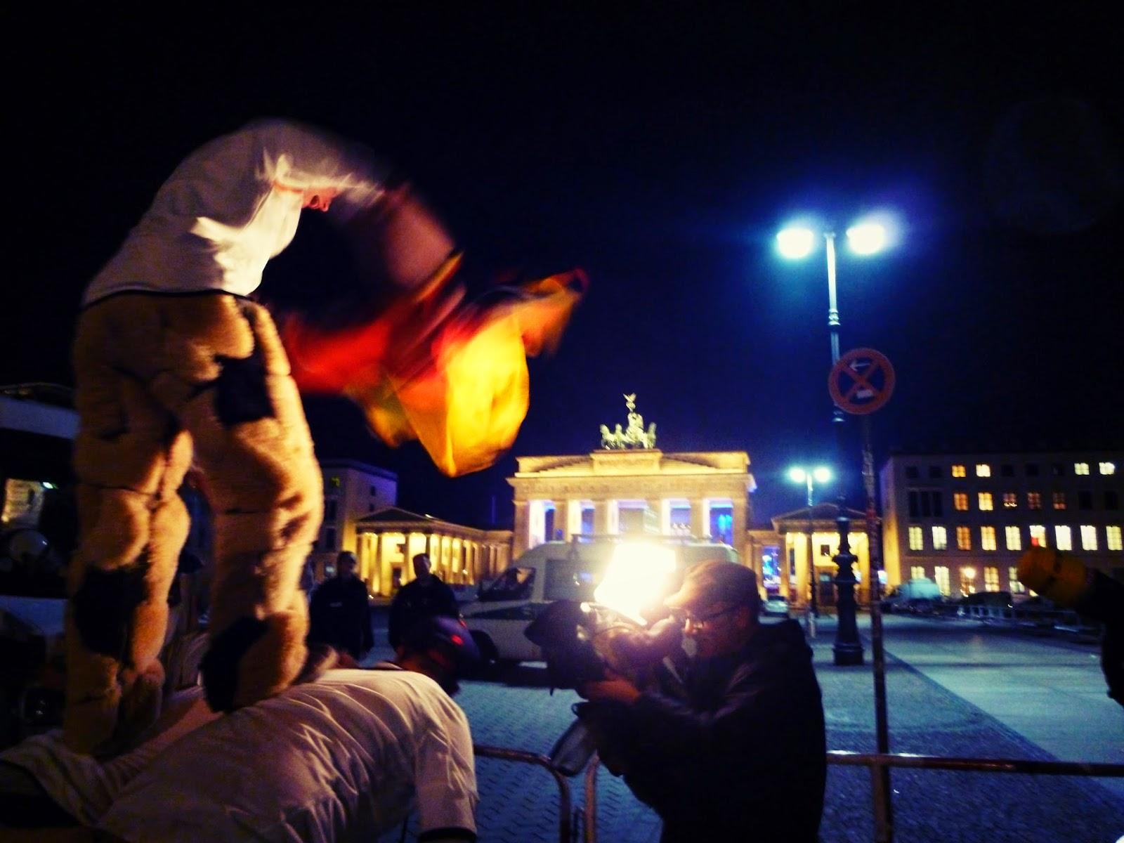 Brandenburg Gate after World Cup 2014