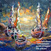 Produk Lukisan Perahu Size 100 x 80 Titel Terang Bulan