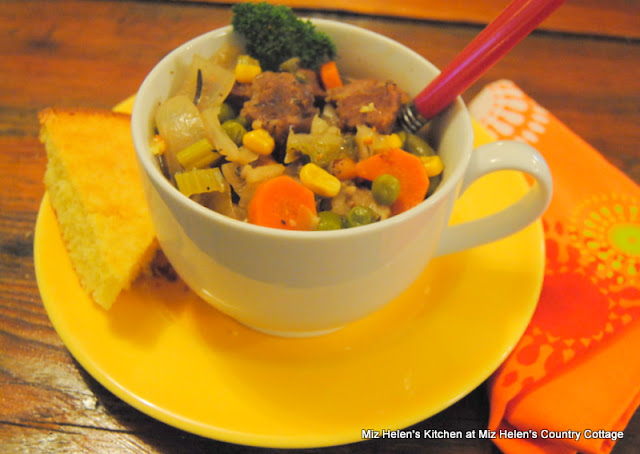 Slow Cooker Vegetable Beef Stew at Miz Helen's Country Cottage