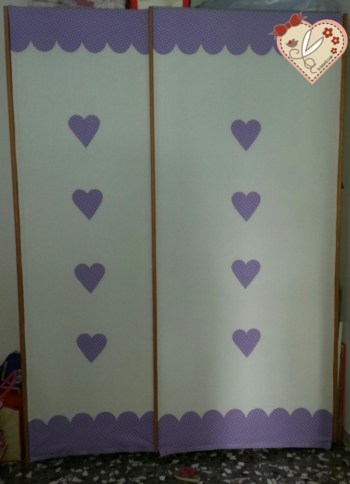 Le creazioni di antonella tendine romantiche che ricoprono ante scorrevoli di un armadio per la - Tendine per cameretta ...