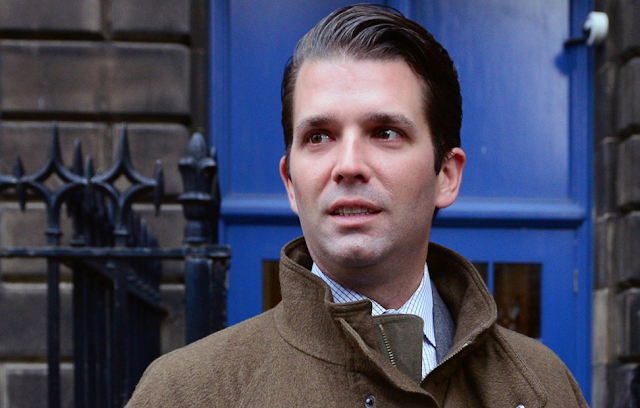 Here's what the letter sent with powder to Trump Jr. said