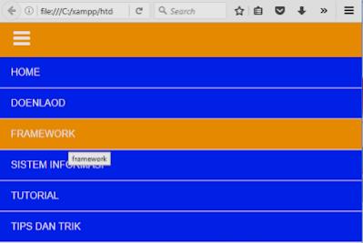 Cara membuat Navigasi menu responsive di html dan php dengan css