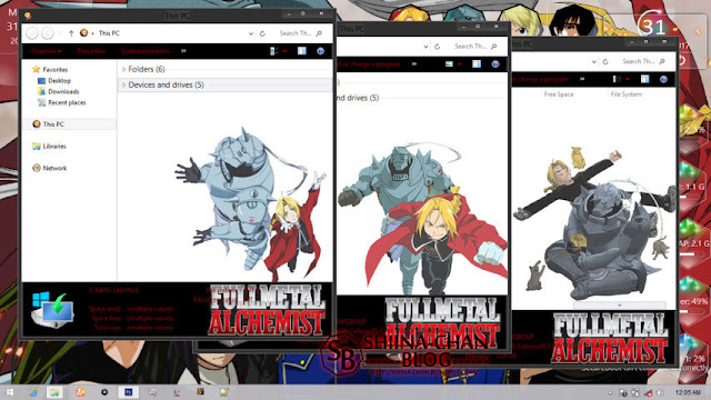 Windows 8/8.1 Theme Fullmetal Alchemist by Enji Riz