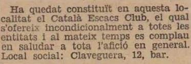 Recorte de La Humanitat, 2/3/1932