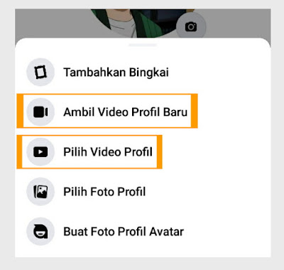Video profil facebook di hp dan pc