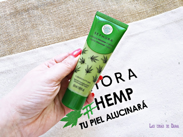 hemp sephora cáñamo cbd cannabis beauty belleza Hemp Mousse Mask Sephora Collection