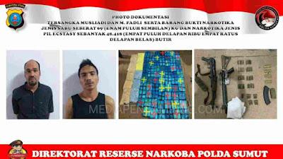 Polda Sumut Ungkap Jaringan Narkoba Internasional, Sita Sabu 89 kg, 48.418 Ekstasi Dan 2 Senjata