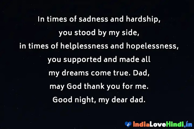good night message for papa in hindi