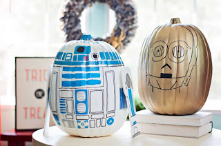 Star Wars painted pumpkins