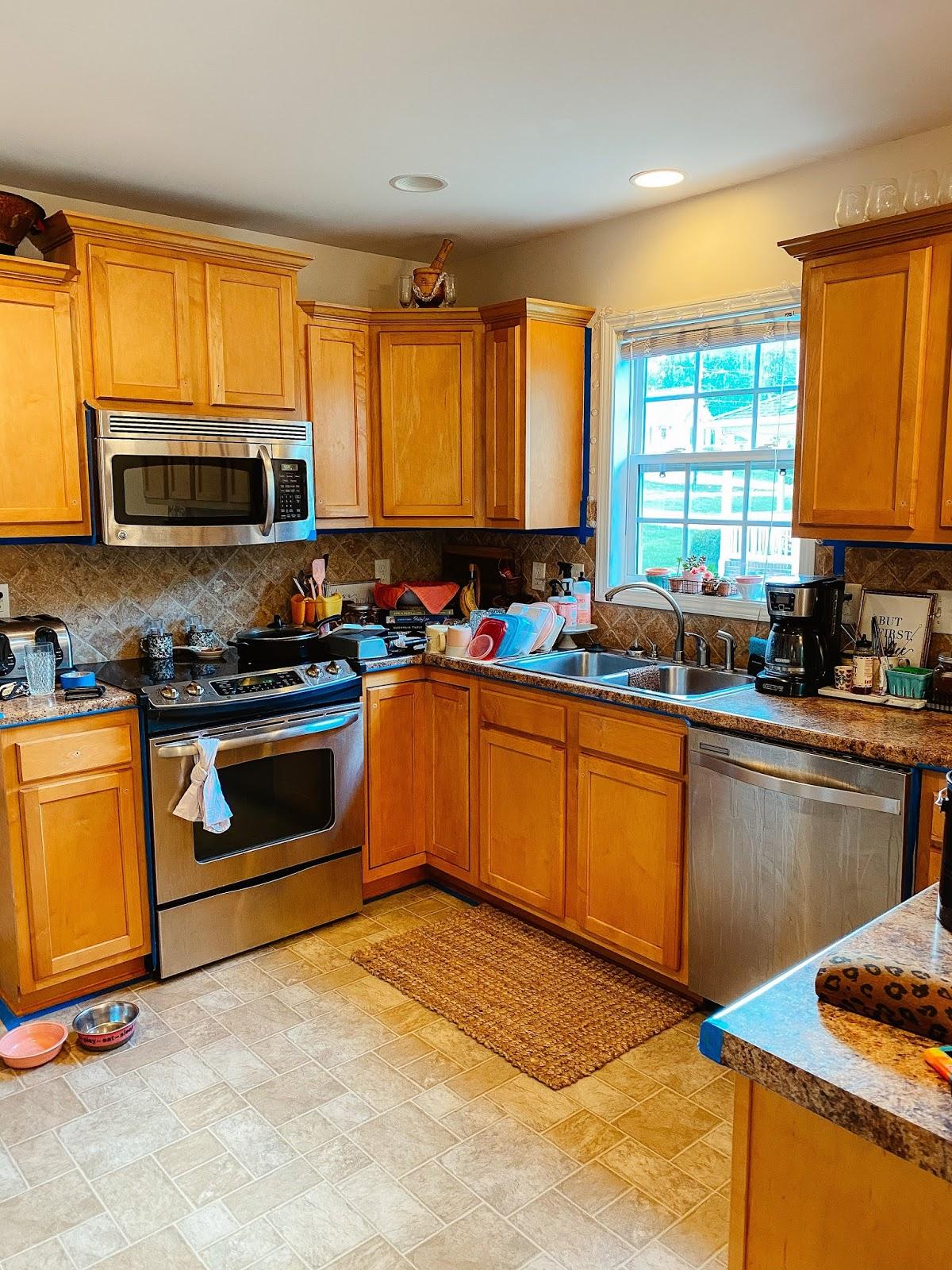 diy, kitchen refresh, painted cabinets, home project, nc blogger, north carolina blogger