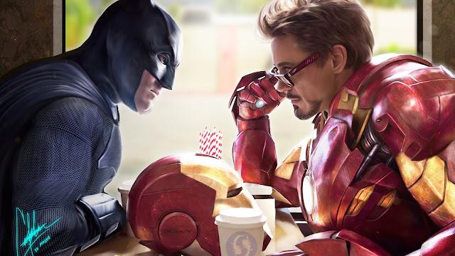 Papel de Parede Batman e Homem de Ferro