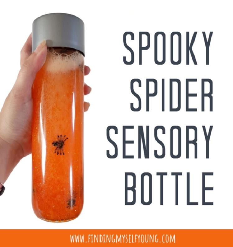 spooky spider sensory bottle