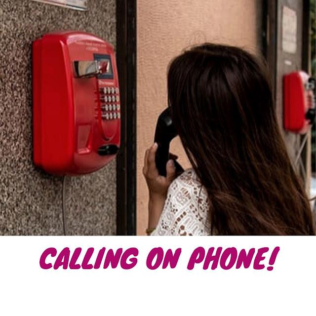 calling on phone