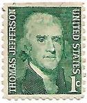 Selo Thomas Jefferson, três lados com perfuração