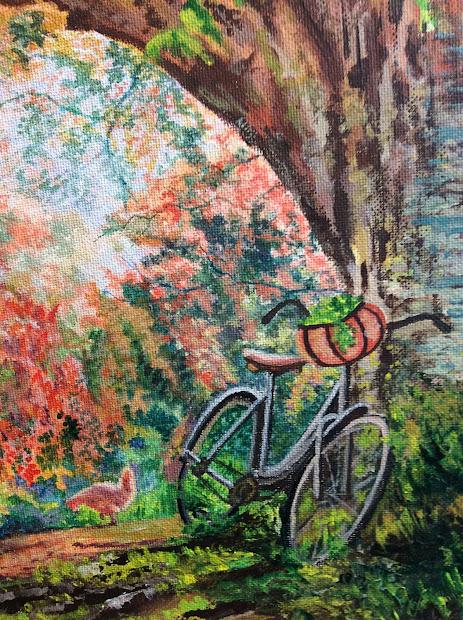 Artiste Peintre Roger Laplante La Bicyclette