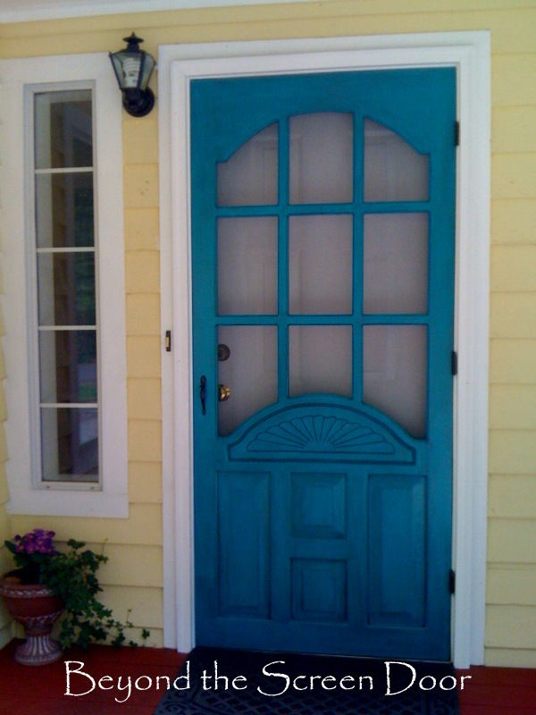 Beyond the Screen Door: A Turquoise Screen Door
