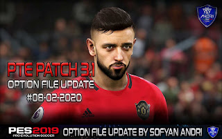 PES 2019 Option File For PTE 3.1 Update 22.11.2019 By Sofyan Andri