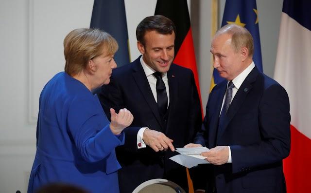 Путін, Макрон і Меркель обговорили Україну і Донбас без Зеленського