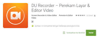 DU Recorder – Perekam Layar & Editor Video