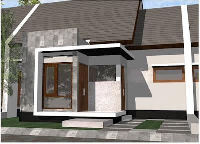 Gambar Desain Teras Untuk Rumah Minimalis Type 36 Sederhana