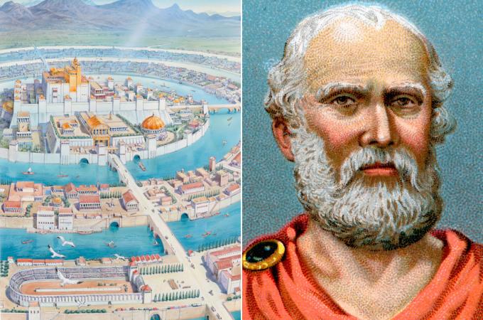 Concepción artística de la Atlántida según Platón.