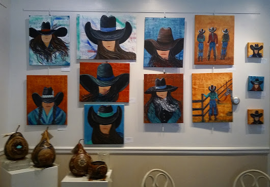 JUNE LOBBY SHOW: Cowgirl Style - Artwork by Cynthia McDonald