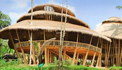 42 desain keren rumah bambu sederhana semi modern