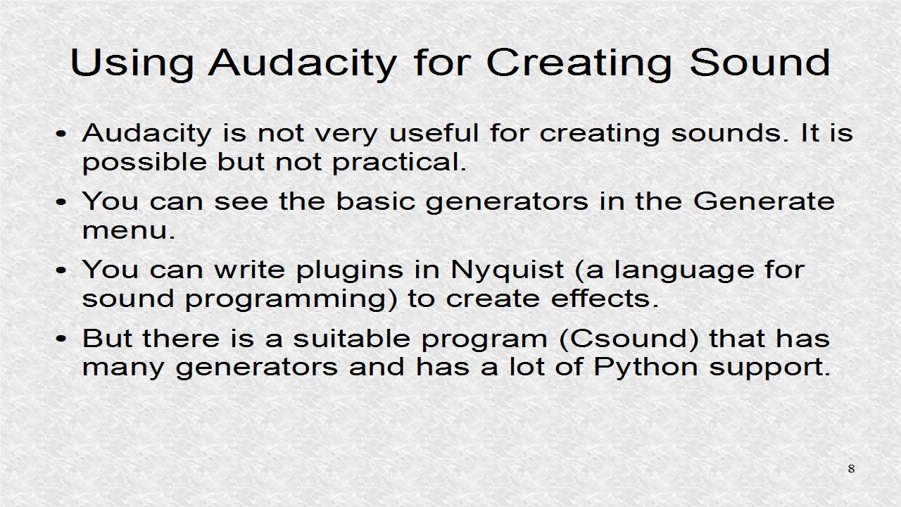 Audio Programming In Python: 5  Writing a Wav File - 2