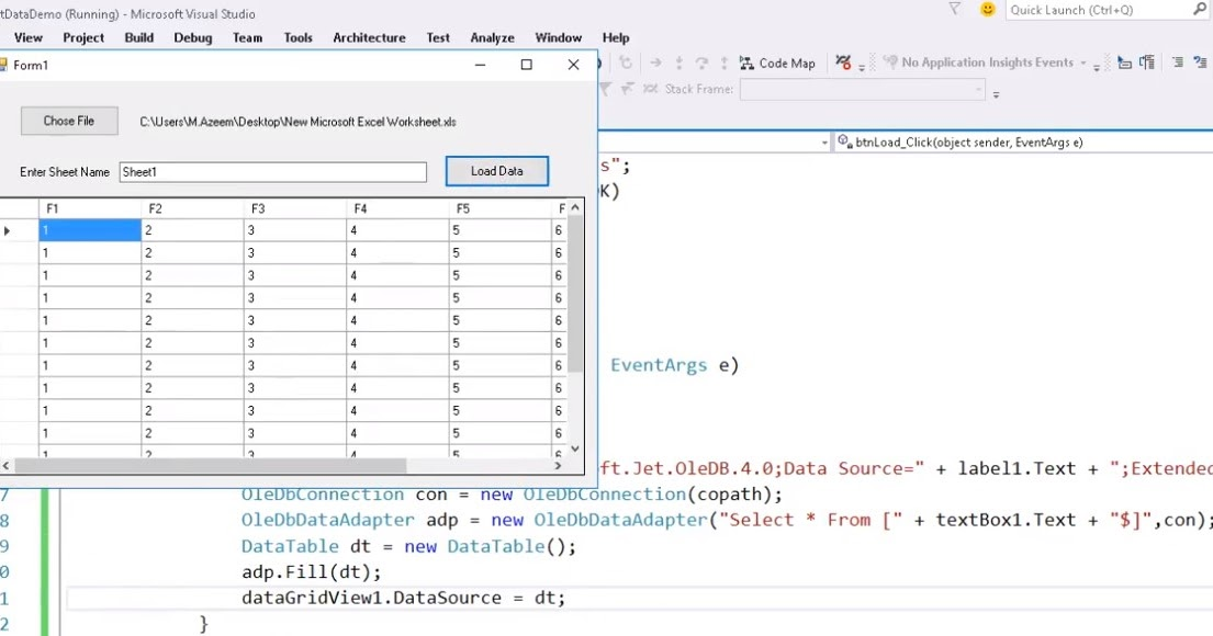 import data from excel to datagridview in c  window form