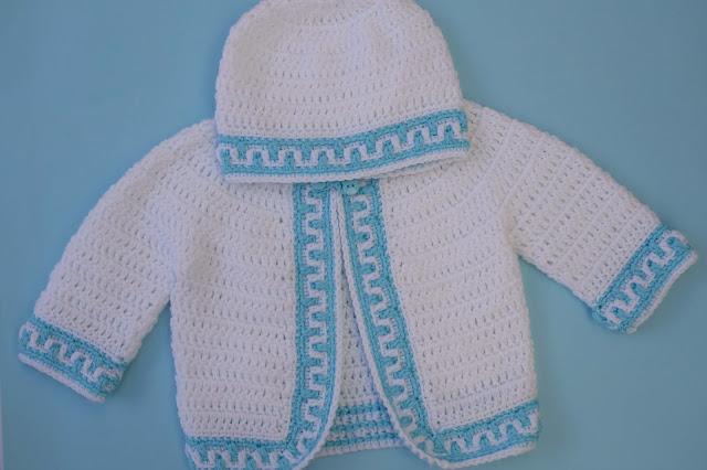 5-Crochet Imagen Gorrito conjunto con chaqueta a crochet y ganchillo por Majovel Crochet