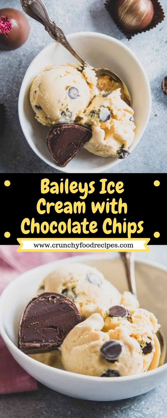 Baileys Ice Cream with Chocolate Chips