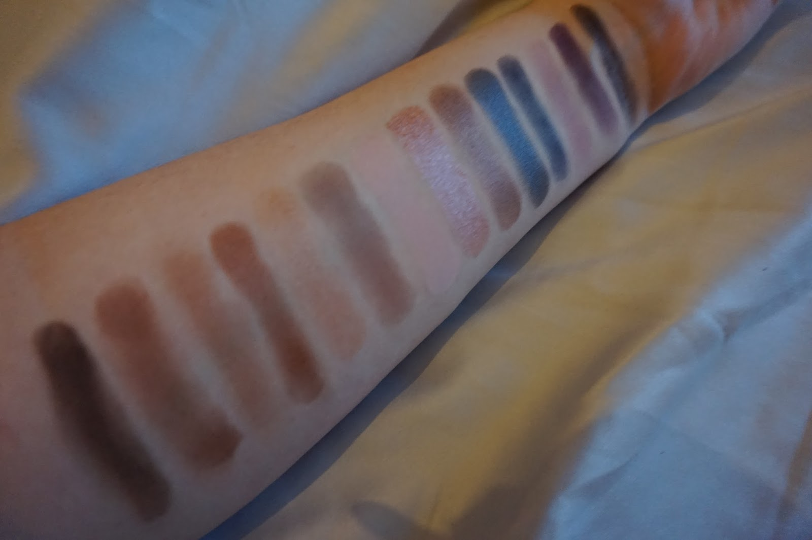 Tarte Color Vibes Ian Clay Eyeshadow Palette Swatches Inked Glaze For Realism