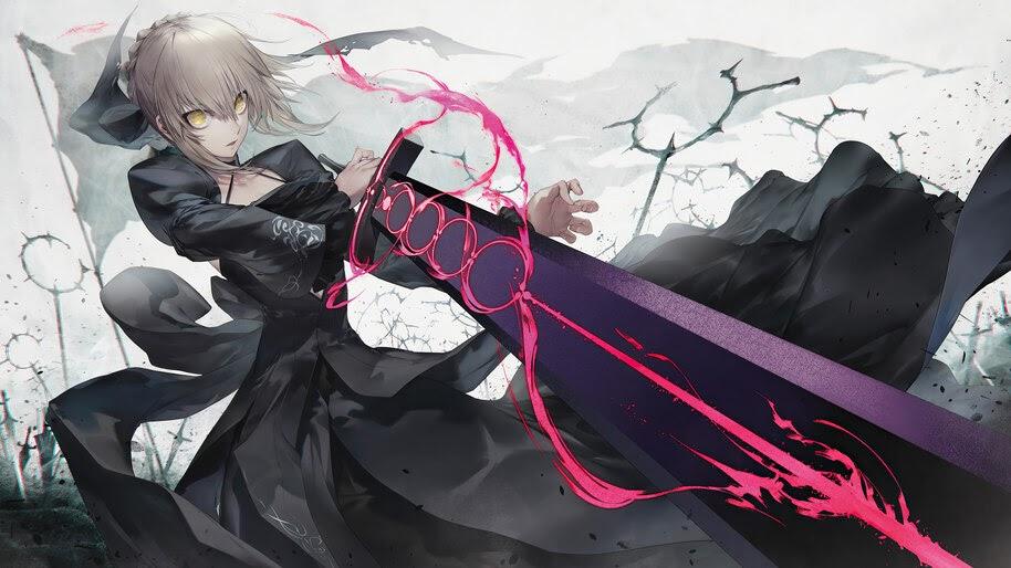 Artoria Pendragon, Saber Alter, Fate/Grand Order, 4K, #6.2287