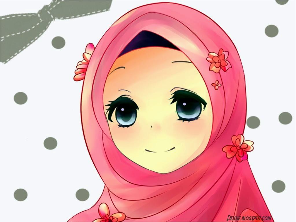 Top Gambar Kartun Muslimah Bergaya Top Gambar
